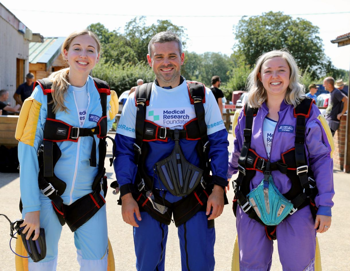 Sky diving  Nichole, mark and Abbie