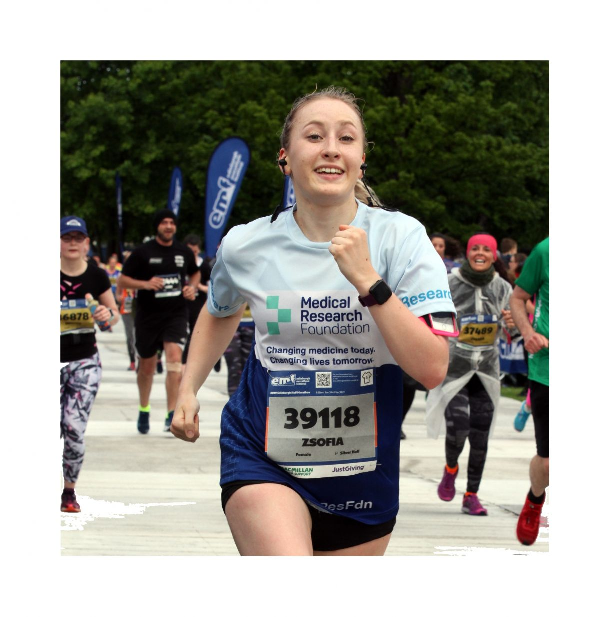 Zsofia Blair Edinburgh Half Marathon Cropped2